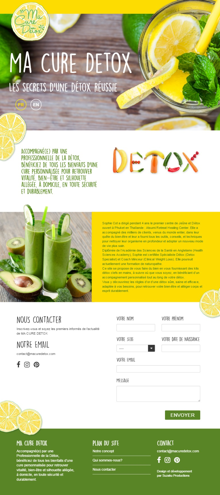 Macure detox tablet view webdesign by Suzaku