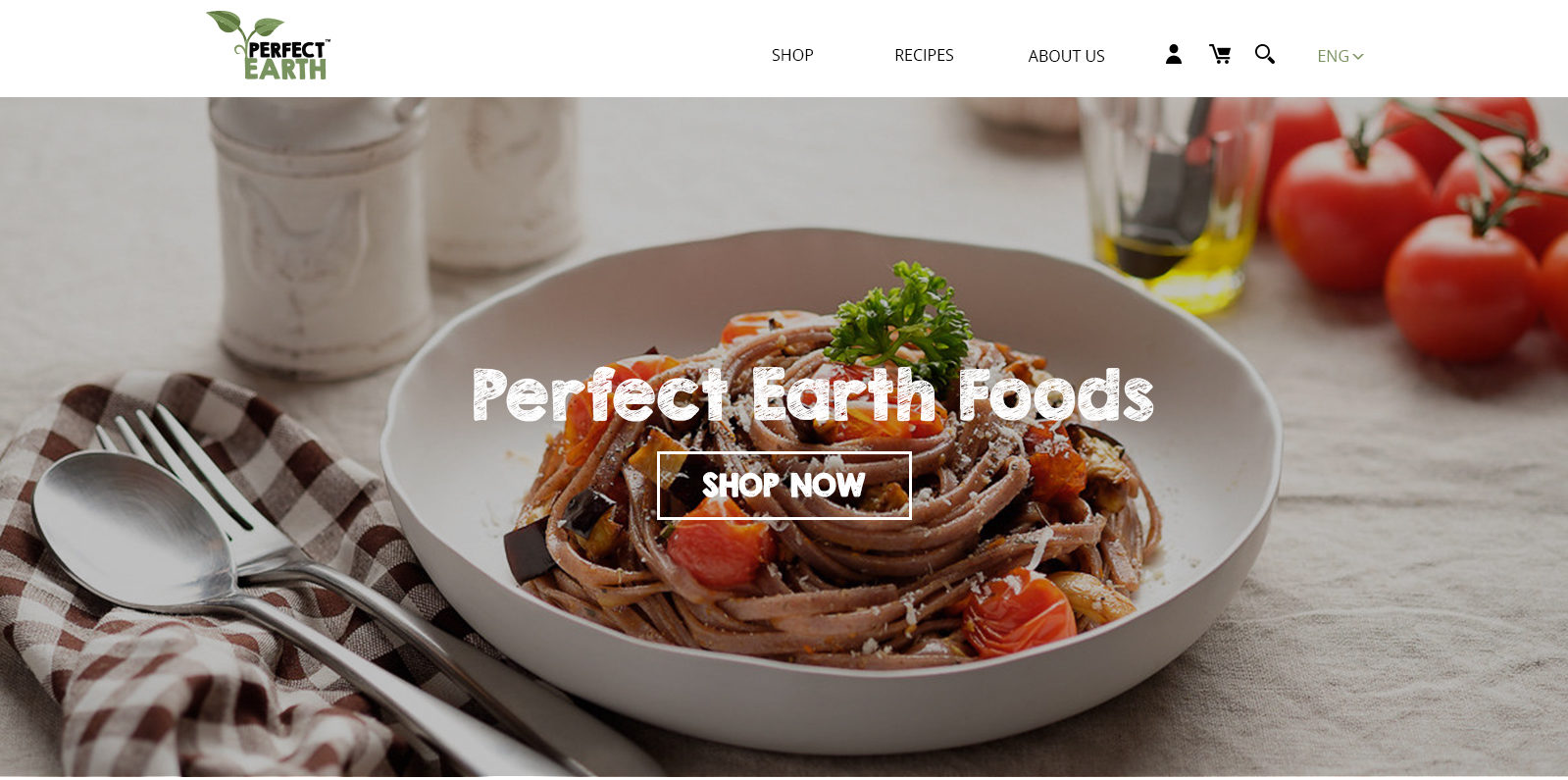 Website for Perfect Earth by Suzaku Productions