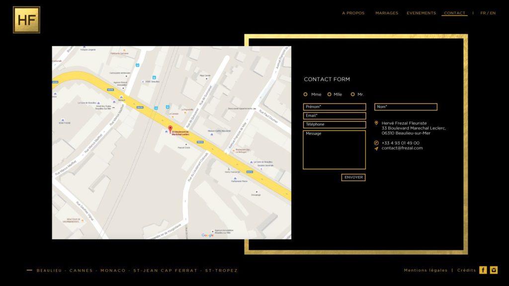 Herve Frezal website by Suzaku Productions