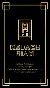Madame Siam business cards by Suzaku Productions