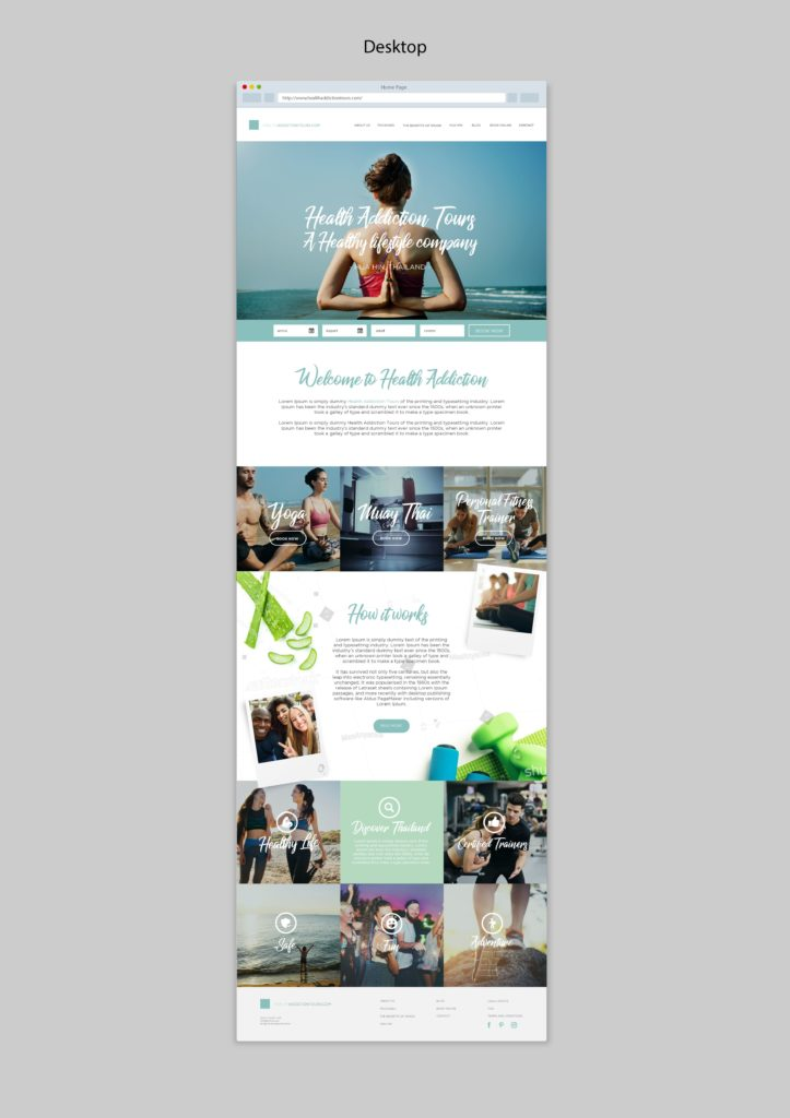 Health Adventure Thailand website Home creation by Suzaku Productions