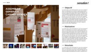 SENSATION website Event page by Suzaku Productions