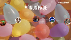 SENSATION website Bonus page by Suzaku Productions