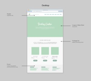 Health Adventure Thailand website Booking wireframe by Suzaku Productions