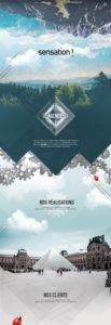 Sensation website draft by Suzaku Productions