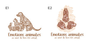 EMOTIONS ANIMALES logo draft by Suzaku Productions