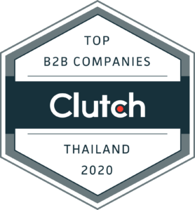 Clutch Award for Top B2B Companies in Thailand in 2020